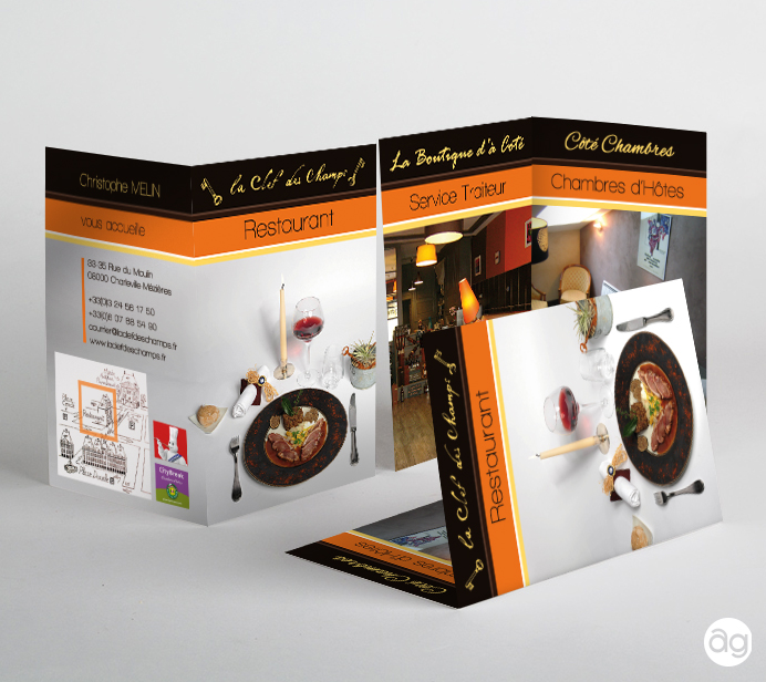 Carte De Visite Pour Un Restaurant Et Chambre Dhotes