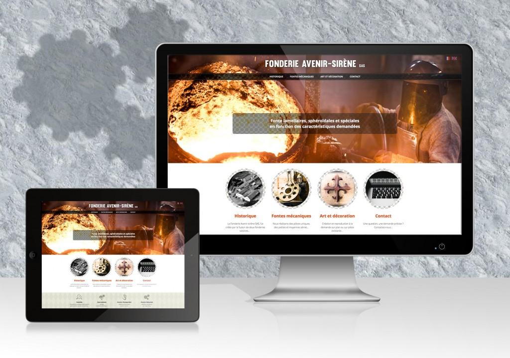 Réalisation du site web de la Fonderie Avenir-Sirène de Rocroi