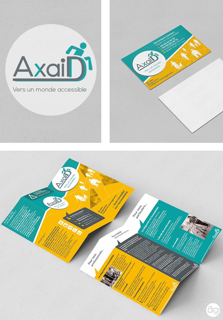 Creation Du Logo De La Carte Visite Et Depliant Pour Societe AxaiD