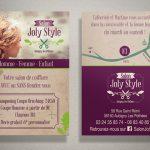 Flyer pour le salon de coiffure Joly Style