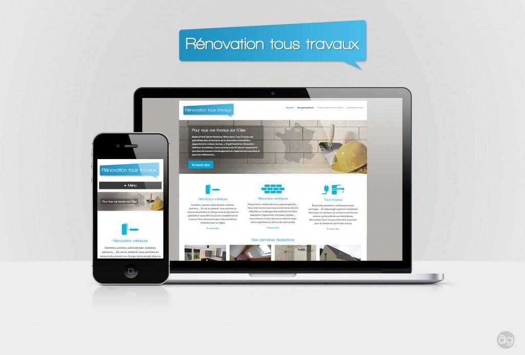 Site internet responsive pour Rénovation Tous Travaux