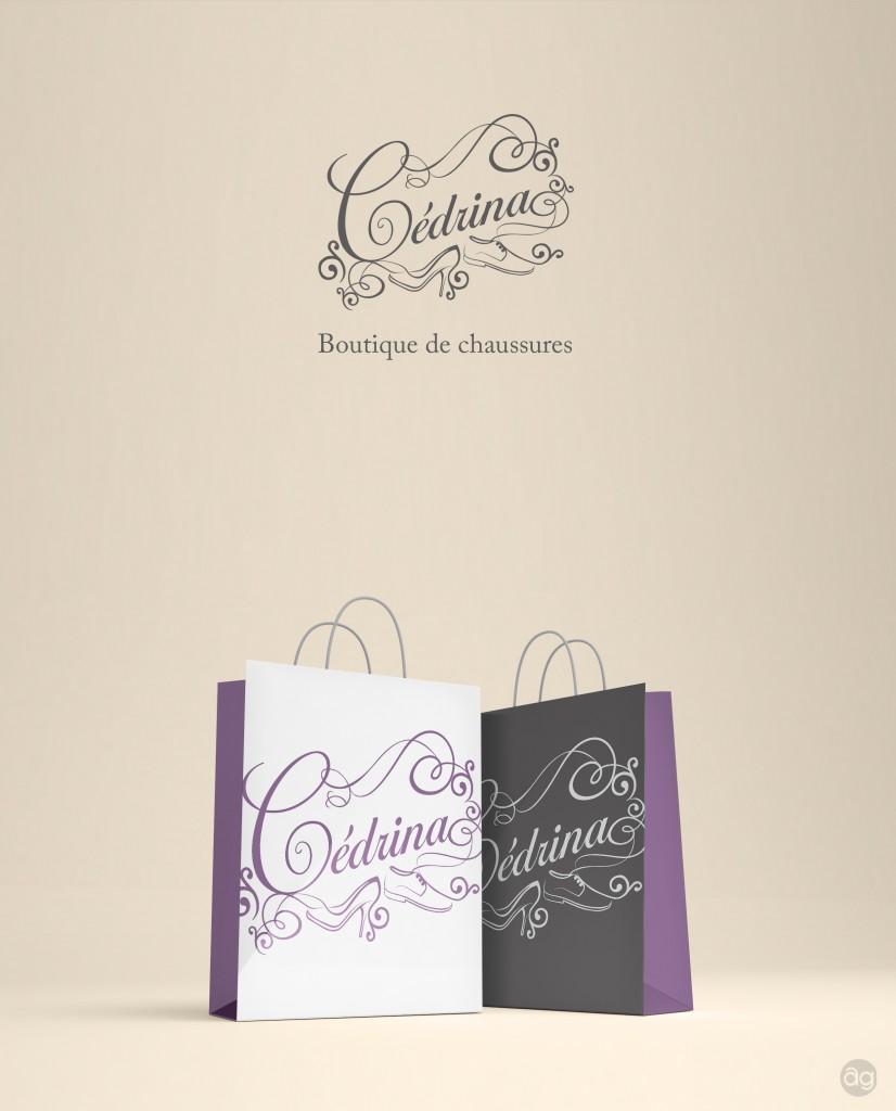 Logo pour la boutique de chaussures Cédrina de Villers-Semeuse.