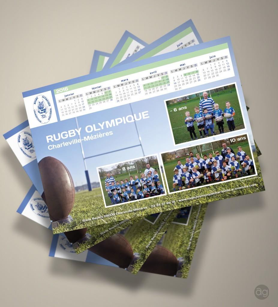 Calendrier 2016 du club de Rugby de Charleville