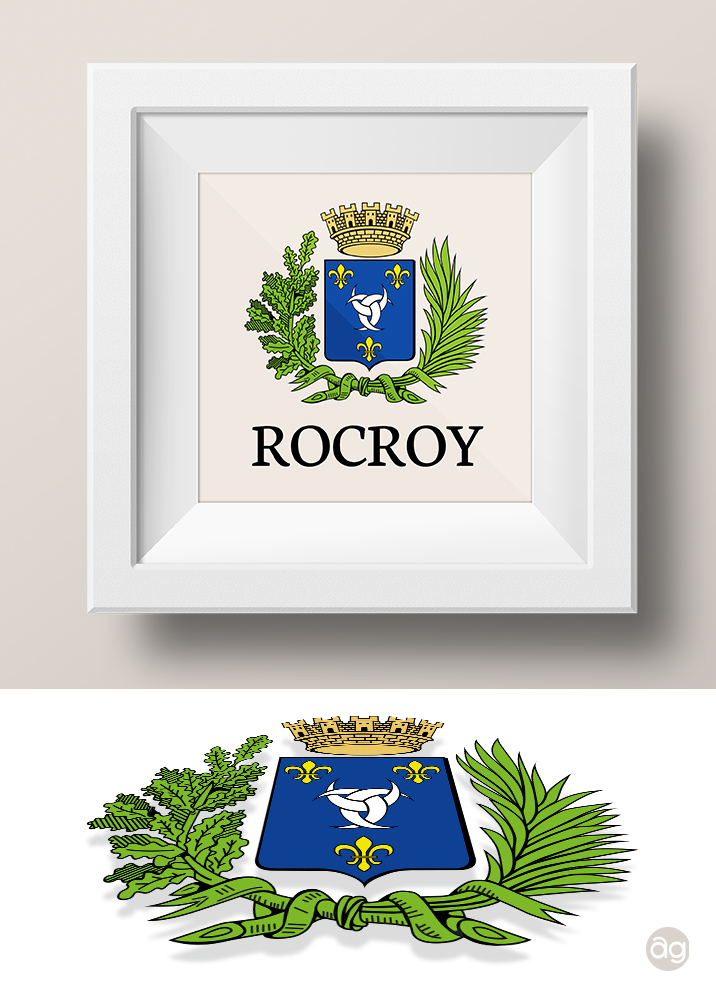 Vectorisation des armoiries de la ville de Rocroy - Ardennes (Rocroi)
