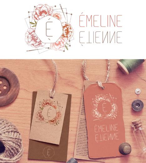 Logo pour la créatrice de robes de mariée : Émeline Étienne à Warnecourt