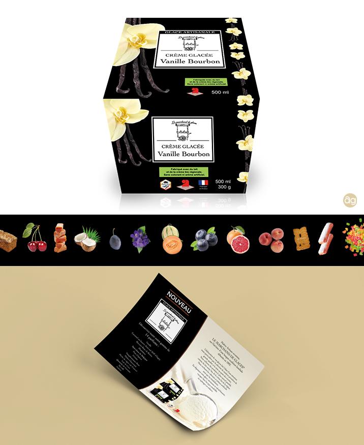 Packaging pour les glaces artisanales ardennaises