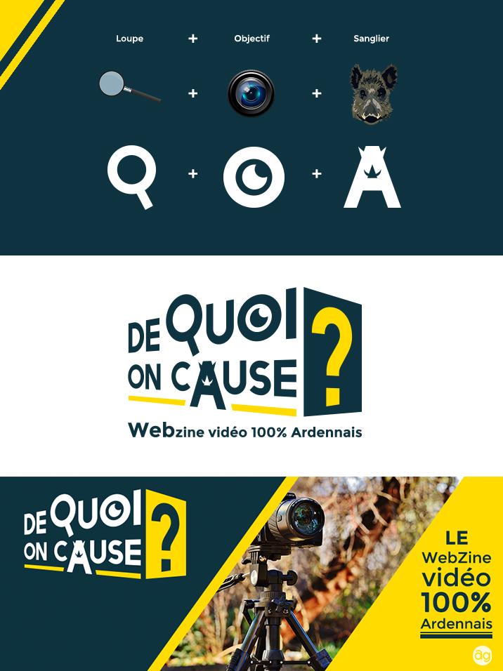 Création du logo pour le Webzine Ardennais : De Quoi On Cause