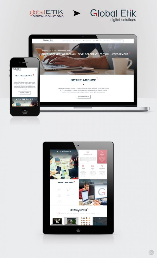 Refonte de site web et nouveau logo pour Global Etik