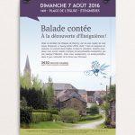 Affiche pour une balade contée à Éteignières (08) organisée par l'association la Maison de l'histoire du Plateau de Rocroy et des Fagnes