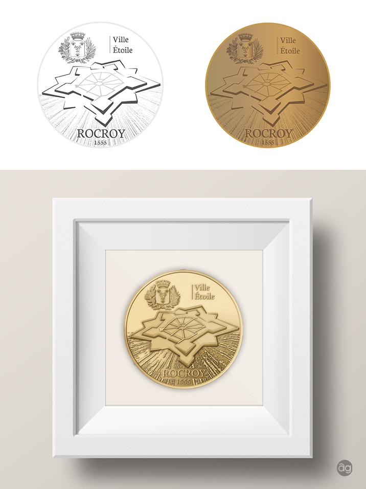 Médaille de la Monnaie de Paris à l'effigie de Rocroy