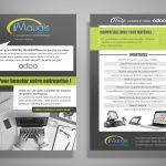Flyer iMaugis et Odoo : logiciels pour entreprises