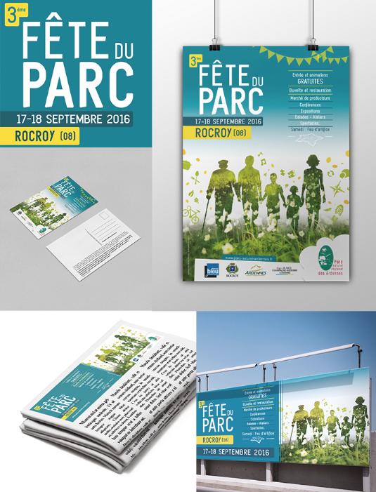 Une: Affiche, programme, plan et communication pour la Fête du Parc Naturel Régional des Ardennes