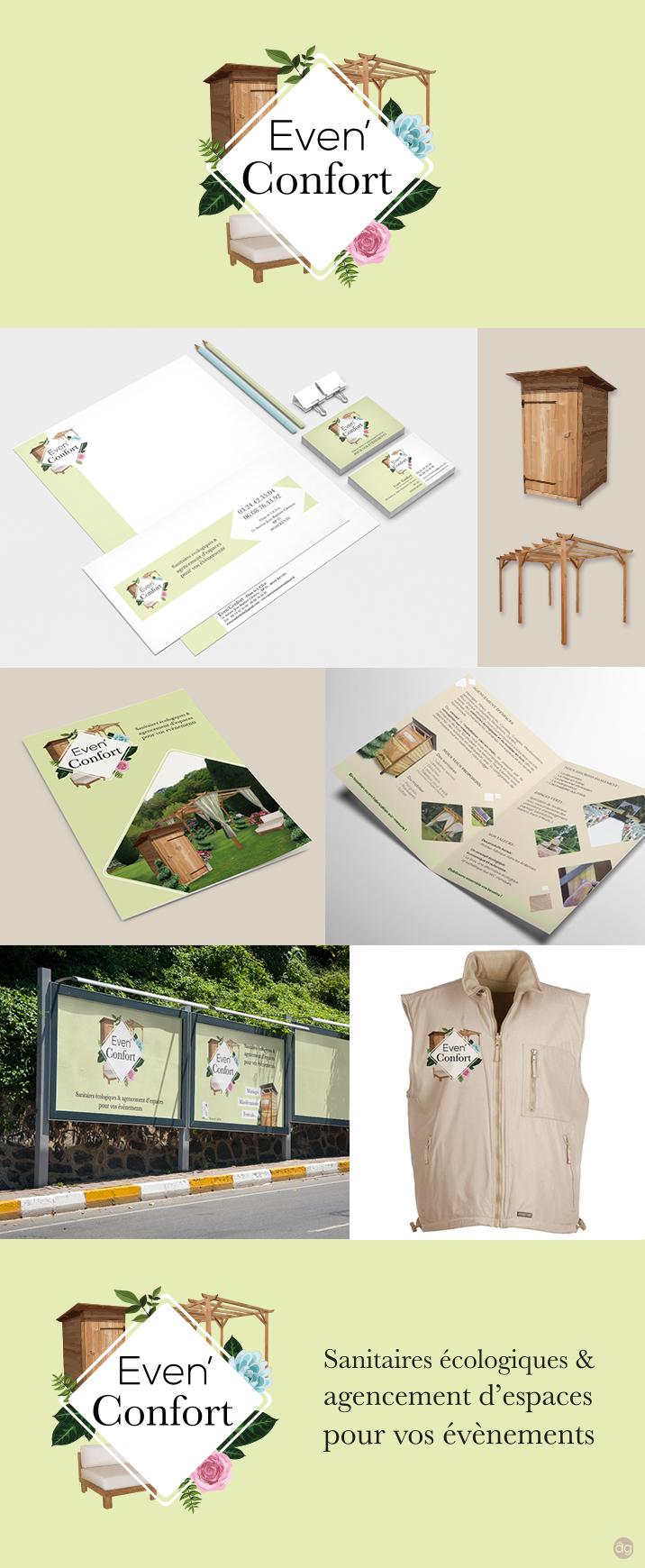 Charte graphique complète pour Even'Confort - Toilettes sèches et agencement d'espace