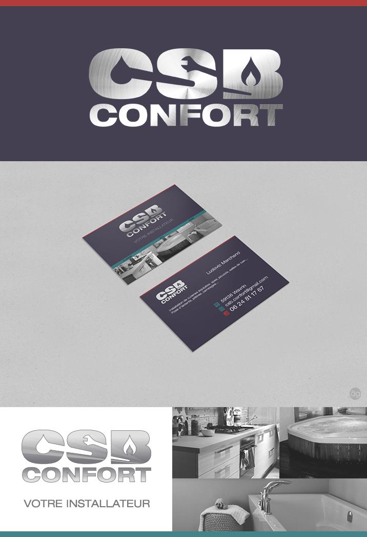 Logo Et Carte De Visite Pour CSB Confort