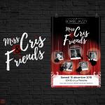 Affiche pour les concerts de Jazz du groupe Miss Cris & Friends