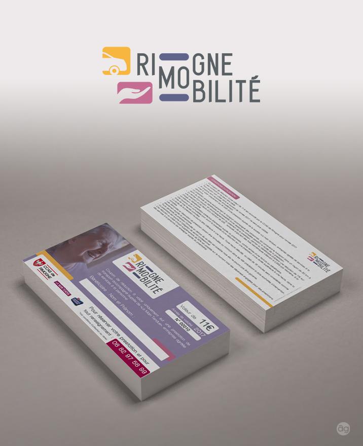 Logo et coupon pour le service Rimogne Mobilité