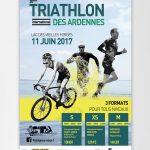Affiche pour le 30ème Triathlon international des Ardennes
