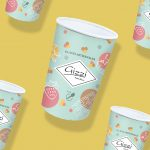 Packaging du petit pot de glace artisanale : Gizzi - Arden'Glaces