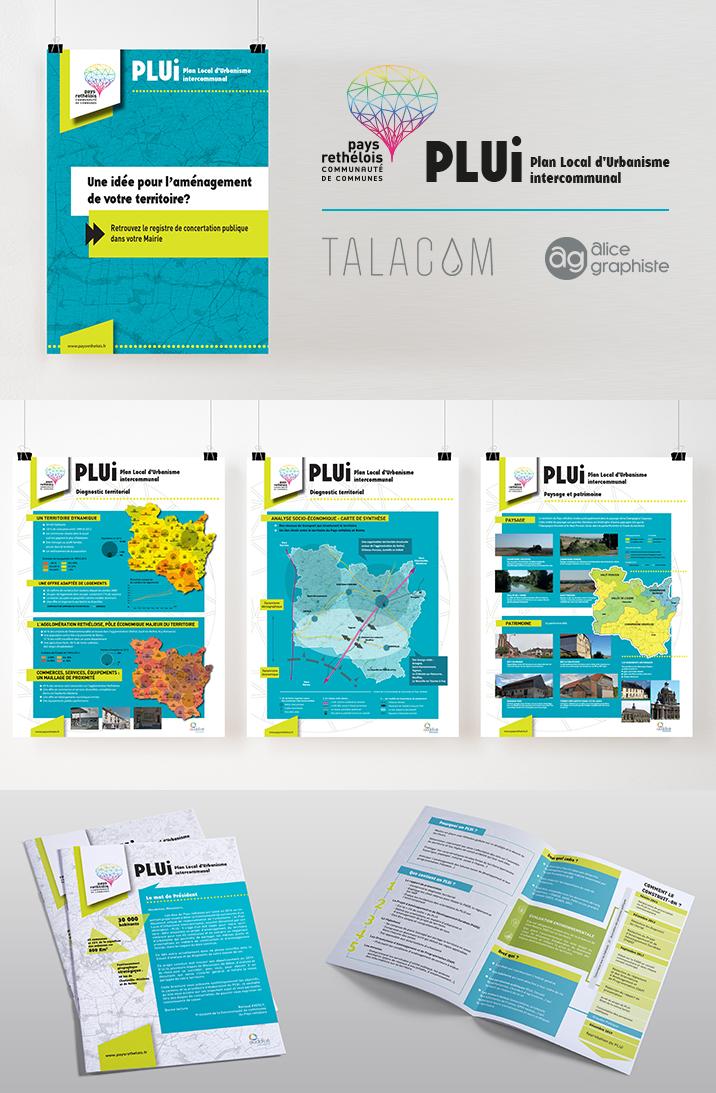 Affiches, panneaux et brochure, en collaboration avec Talacom, pour le pays rethélois