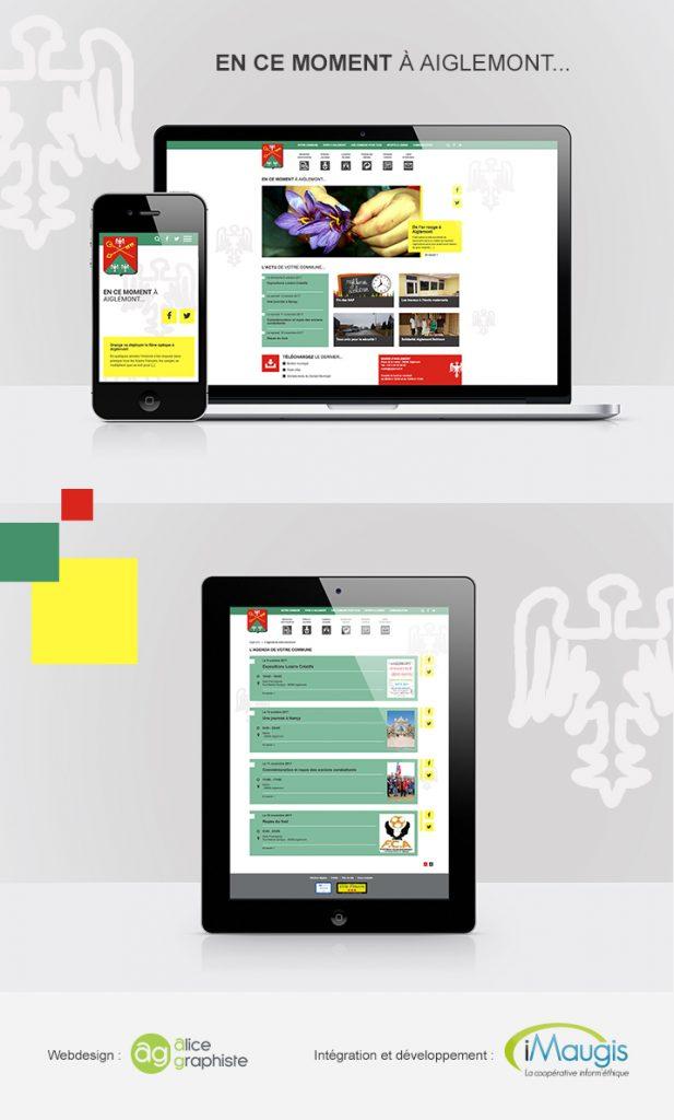 Webdesign du site internet d'Aiglemont, développé par iMaugis