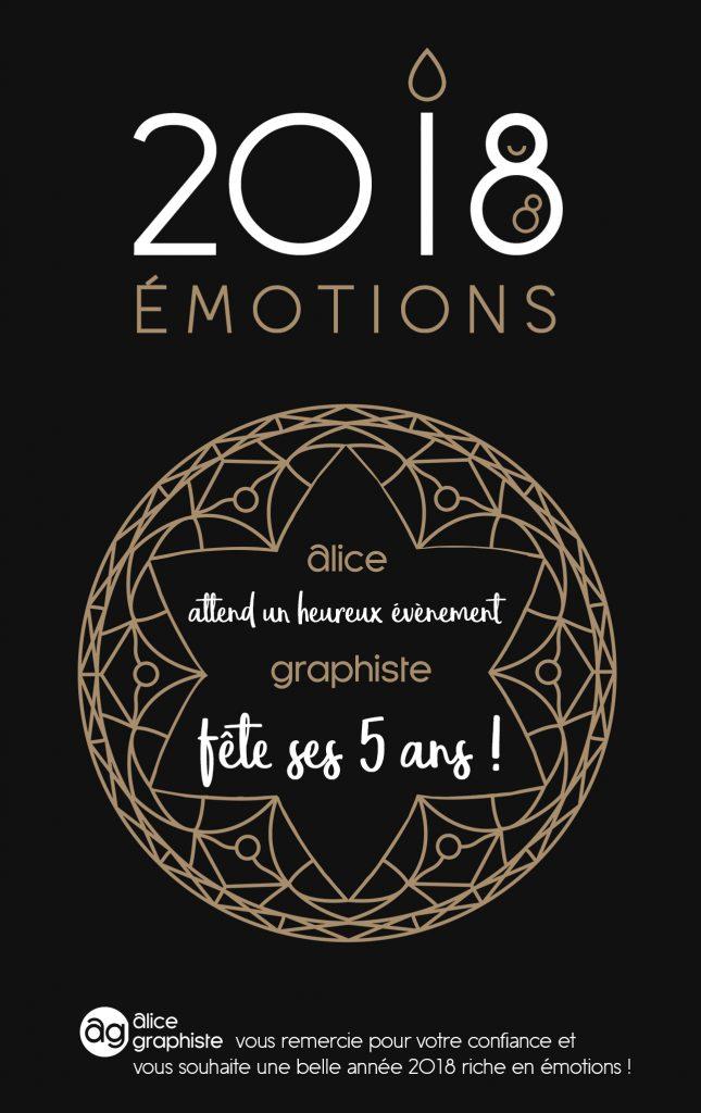 Alice Graphiste vous souhaite une Belle Année 2018