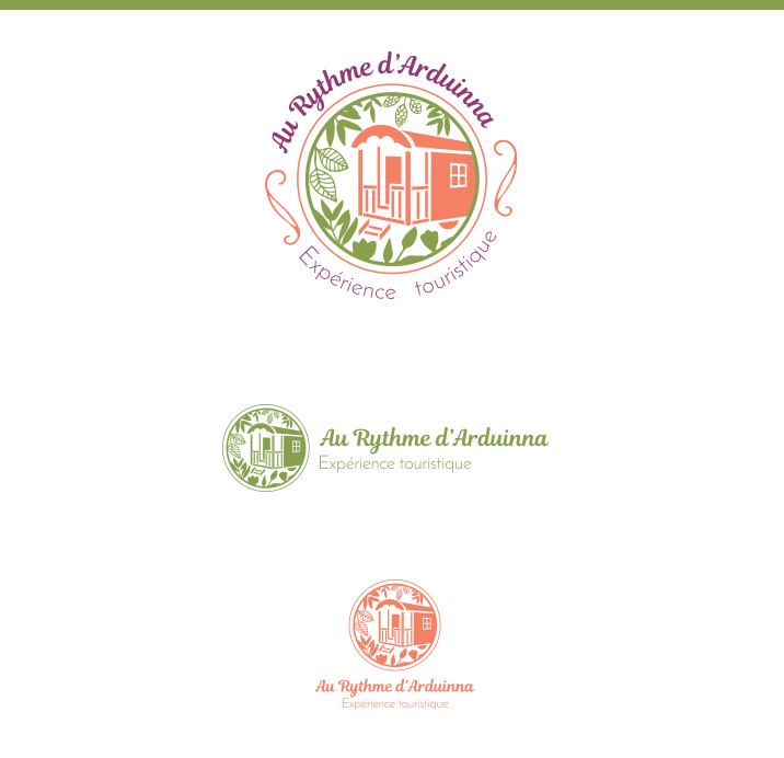 Logo et Carte de visite pour la roulotte Au Rythme d'Arduinna