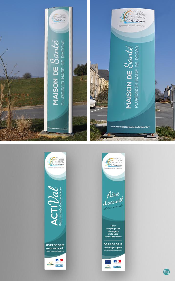 Totems pour la Communauté de communes Vallée et Plateau d'Ardenne