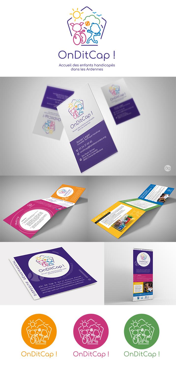 Logo Carte De Visite Depliant Roll Up Conception La Charte Graphique Complete Pour Le Nouveau Dispositif Ardennais En Faveur Des Enfants Handicapes