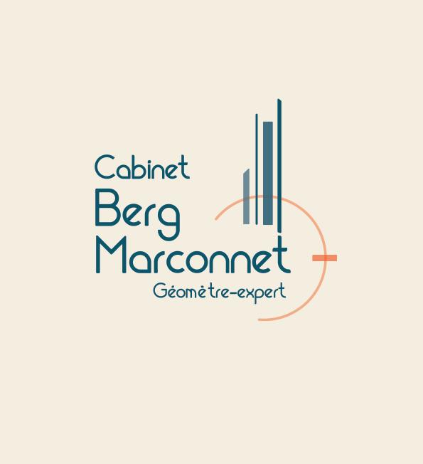 Identité visuelle pour le Cabinet de Géomètres Berg Marconnet