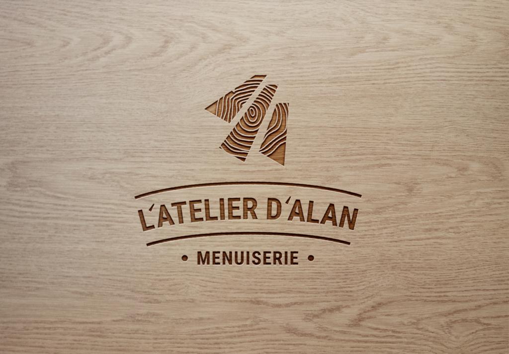 logo l'atelier d'alan - menuiserie