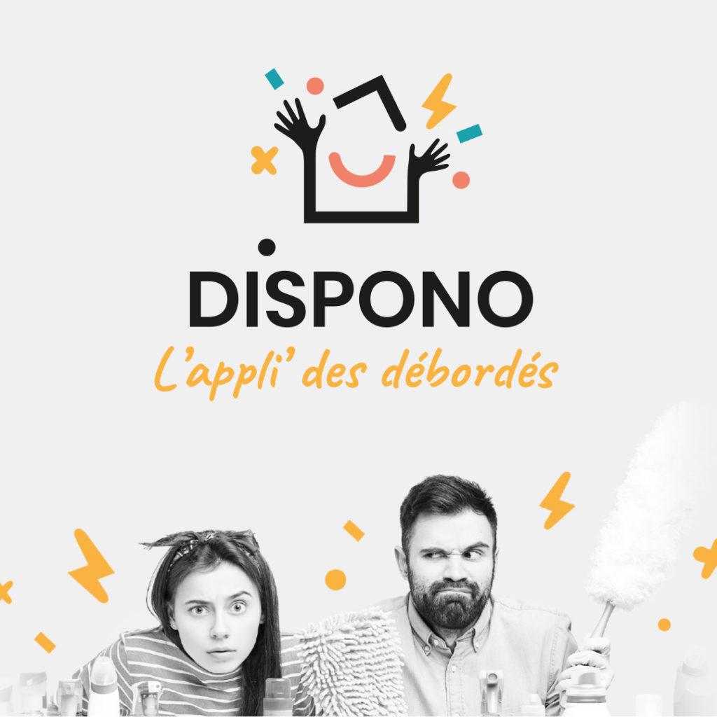 identité visuelle pour la web application Dispono